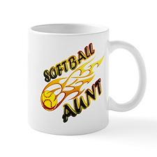 Softball Aunt (flame).png Mug