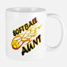 Softball Aunt (flame).png Mug