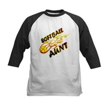 Softball Aunt (flame).png Tee