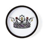 Crown Jewels Wall Clock
