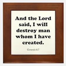 Genesis 6:7 Framed Tile