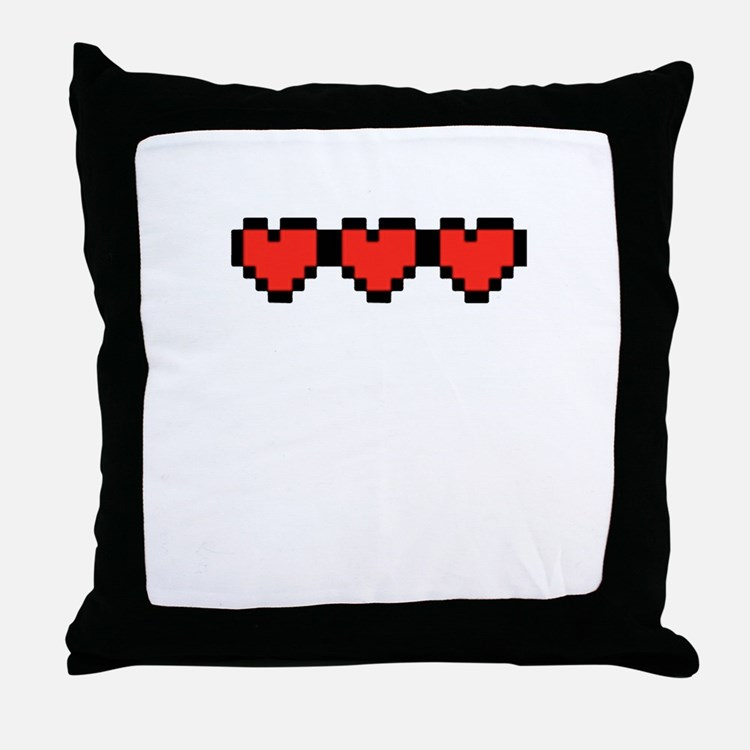 All Full 8 Bit Hearts.png Throw Pillow