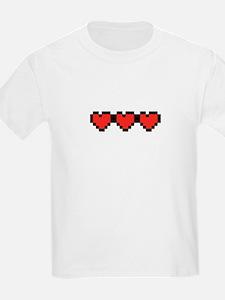 All Full 8 Bit Hearts.png T-Shirt