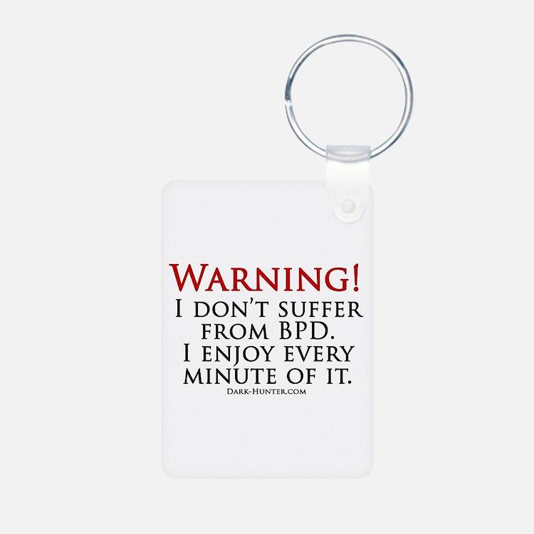 Warning BPD Aluminum Photo Keychain