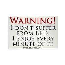 Warning BPD Rectangle Magnet