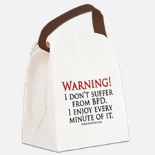 Warning BPD Canvas Lunch Bag