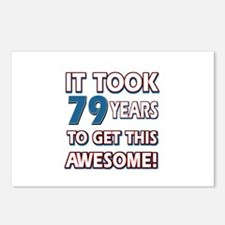 79 Year Old birthday gift ideas Postcards (Package