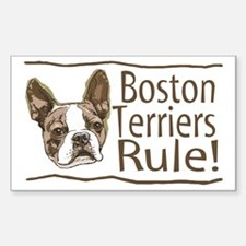 Boston Terriers Rule Rectangle Decal