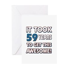 59 Year Old birthday gift ideas Greeting Card