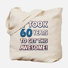 60 Year Old birthday gift ideas Tote Bag