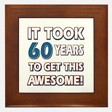 60 Year Old birthday gift ideas Framed Tile