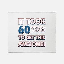 60 Year Old birthday gift ideas Throw Blanket