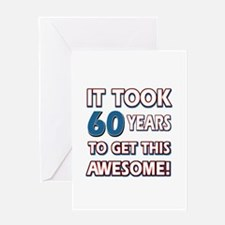 60 Year Old birthday gift ideas Greeting Card