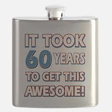 60 Year Old birthday gift ideas Flask