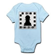 No Pawn Intended Checkered Infant Bodysuit