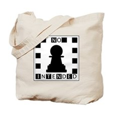 No Pawn Intended Checkered Tote Bag