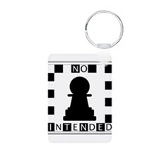 No Pawn Intended Checkered Keychains