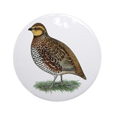 Bobwhite Quail Hen Ornament (Round)