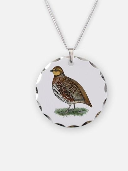 Bobwhite Quail Hen Necklace