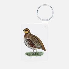 Bobwhite Quail Hen Keychains