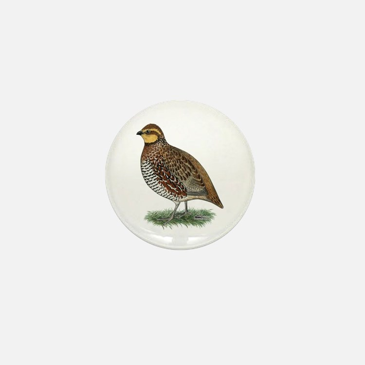 Bobwhite Quail Hen Mini Button