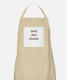 """""""Drink More Chocolate"""" BBQ Apron"""