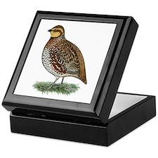 Bobwhite Quail Hen Keepsake Box