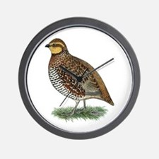 Bobwhite Quail Hen Wall Clock