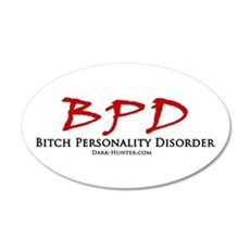 BPD 20x12 Oval Wall Decal