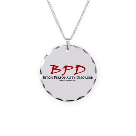 BPD Necklace Circle Charm