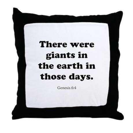 Genesis 6:4 Throw Pillow