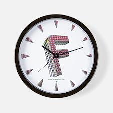 Glamor Brooch F Wall Clock