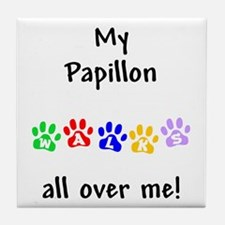 Papillon Walks Tile Coaster
