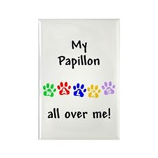 Papillon Walks Rectangle Magnet
