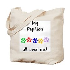 Papillon Walks Tote Bag