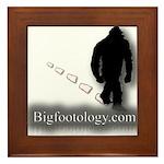 Trekking Bigfoot - Bigfootology.com Framed Tile