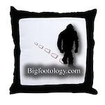 Trekking Bigfoot - Bigfootology.com Throw Pillow