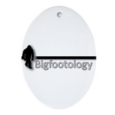 Bigfootology with Bar Ornament (Oval)