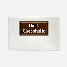 """Dark Chocoholic"" Rectangle Magnet"