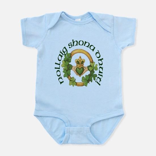 Gaelic Greeting Claddagh Infant Creeper
