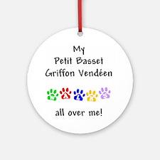 Petit Basset Griffon Vendeen Walks Ornament (Round