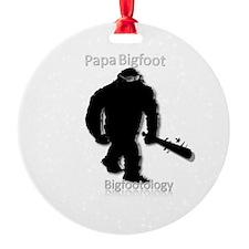 Papa Bigfoot Round Ornament