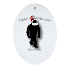 Merry Christmas Bigfoot Ornament (Oval)