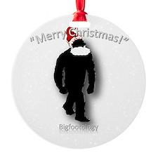 Merry Christmas Bigfoot Round Ornament