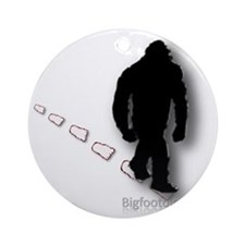 Trekking Bigfoot Ornament (Round)