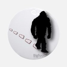 Trekking Bigfoot Ornament (Round)