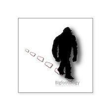 "Trekking Bigfoot Square Sticker 3"" x 3"""