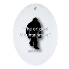 The Original Mountainman. Ornament (Oval)