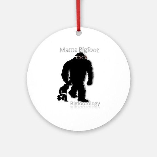 Mama Bigfoot Ornament (Round)