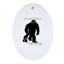 Mama Bigfoot Ornament (Oval)
